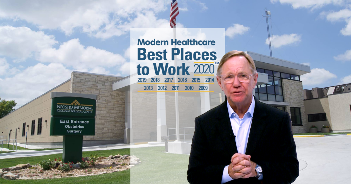Quint Studer speaks about how NMRMC is one of the best places to work within the healthcare field